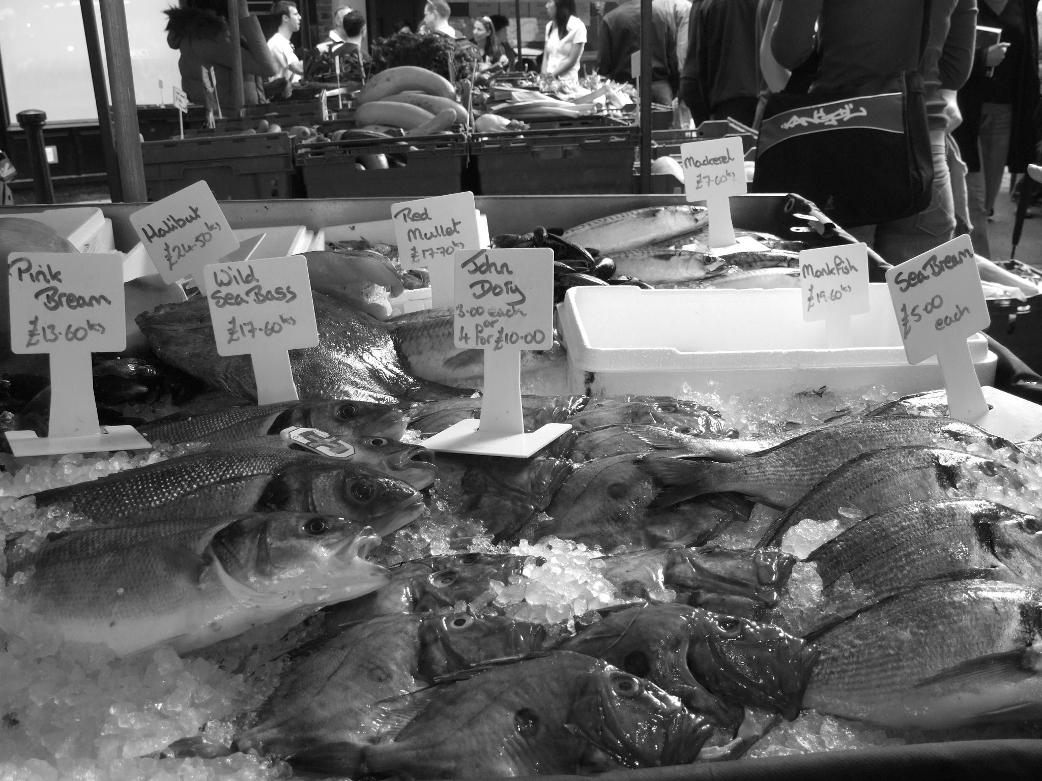 Photo in Black and White #street photography #bw #london #borough market
