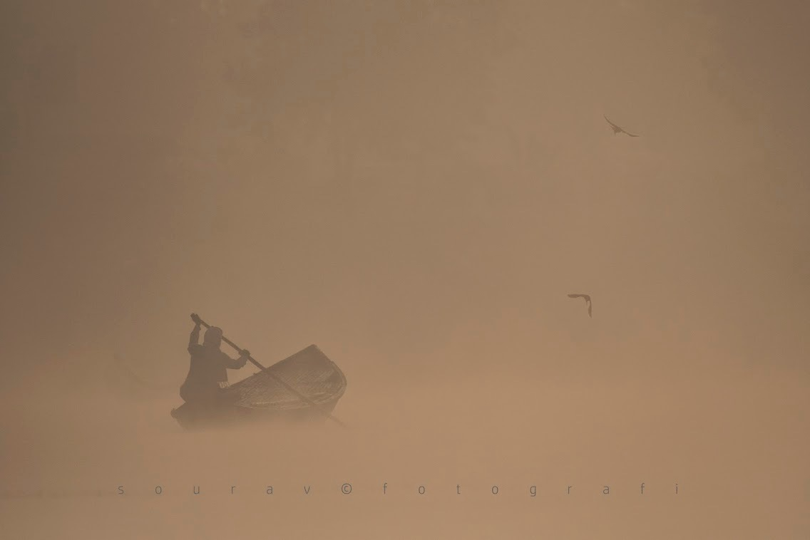 Rowing through the fog by SouravGhosh3