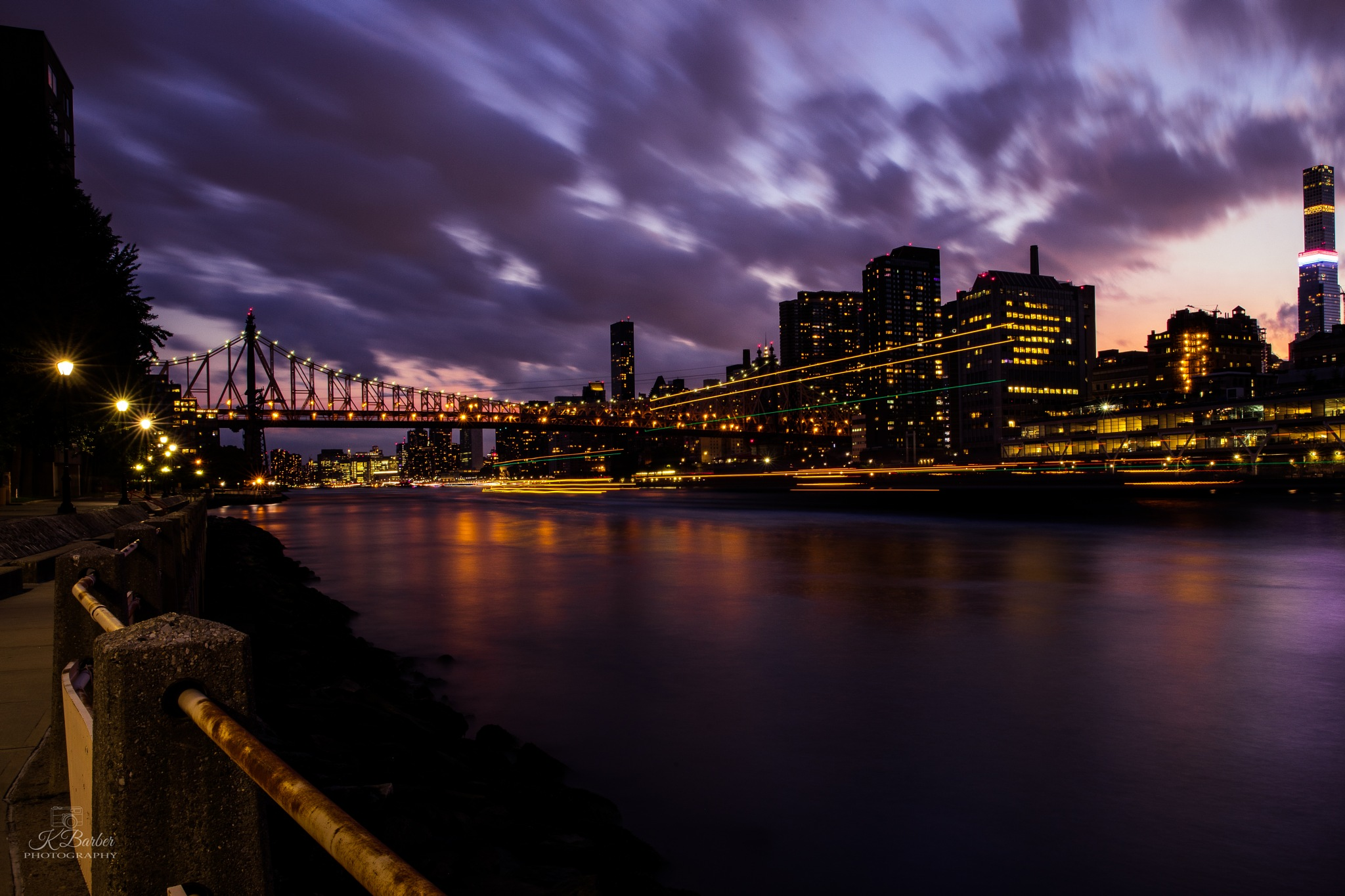 Roosevelt Island at Sunset by Katy Beth Barber