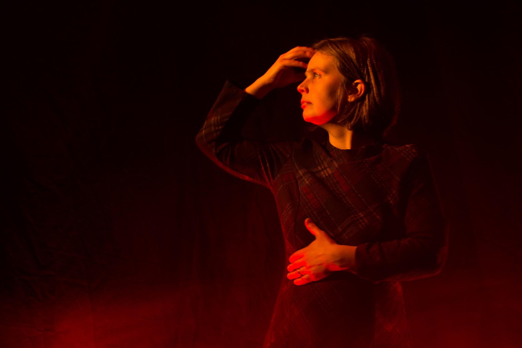 Photo in Portrait #women #girl #belgium #red #model #fire