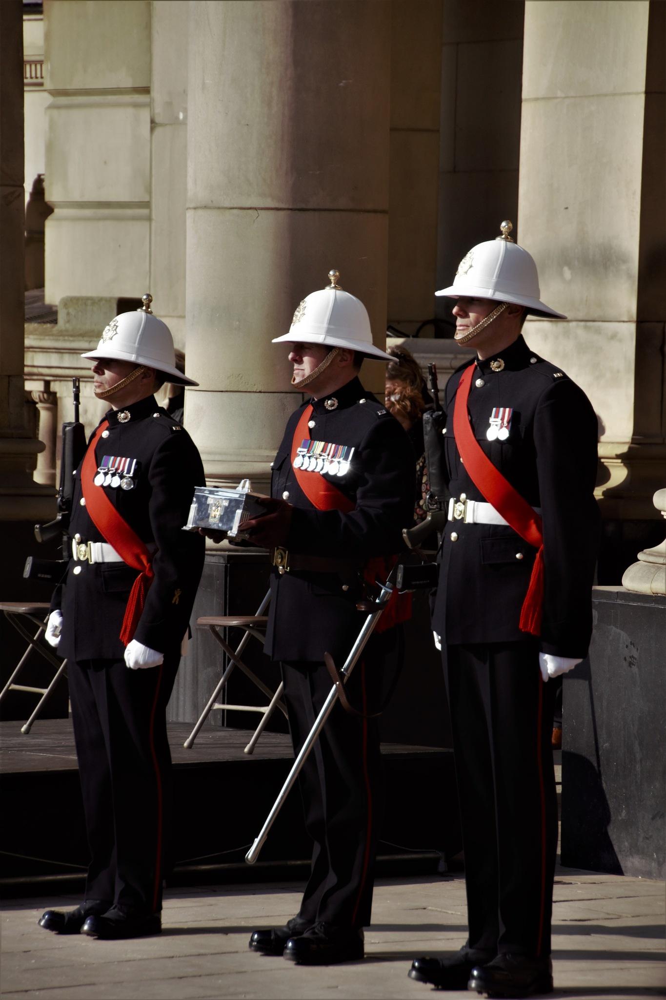 Prestation of honour by Hugh Burden