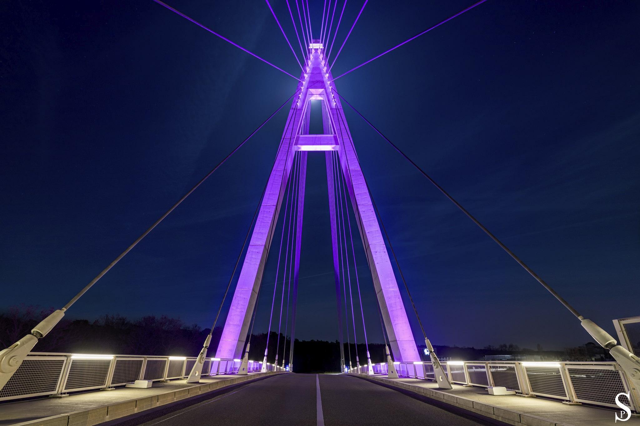 Photo in Landscape #city #bridge #landscape #night #sky #street