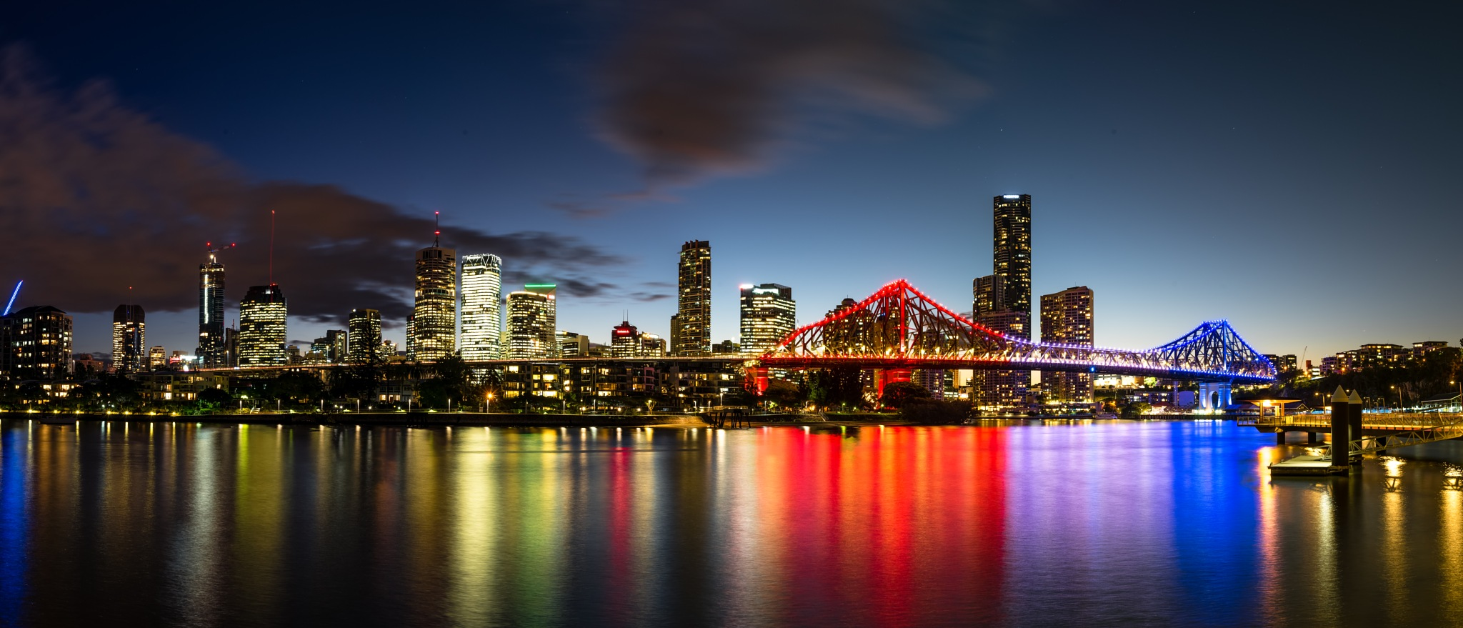 Brisbane and the Story Bridge by Bruce Patterson