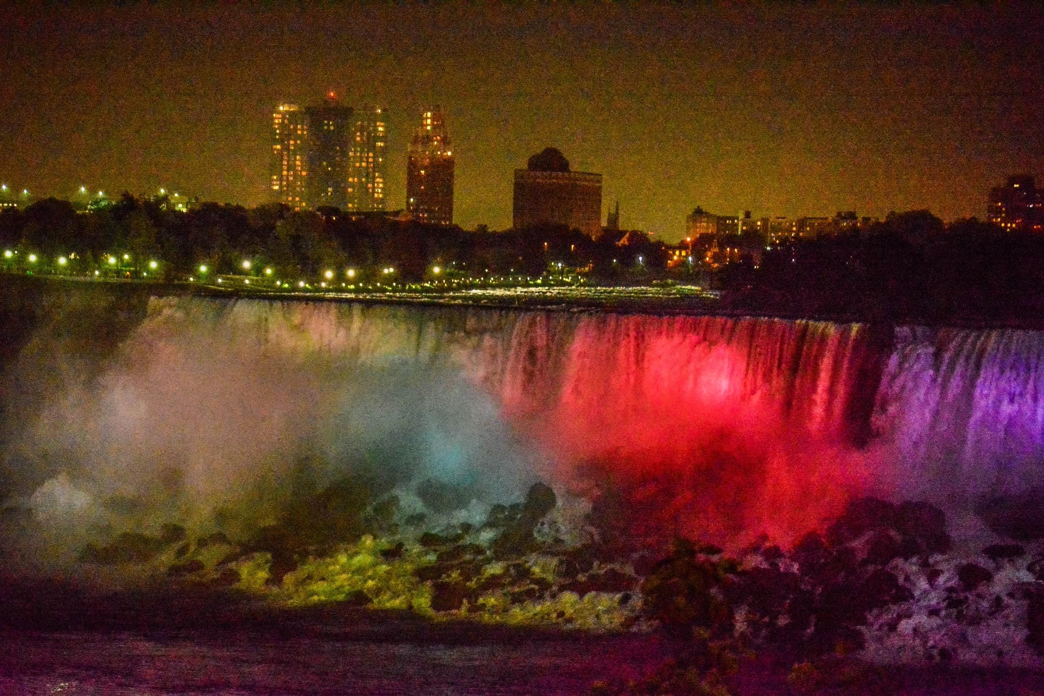 The US Falls at Night, Niagara. by Denys Peel