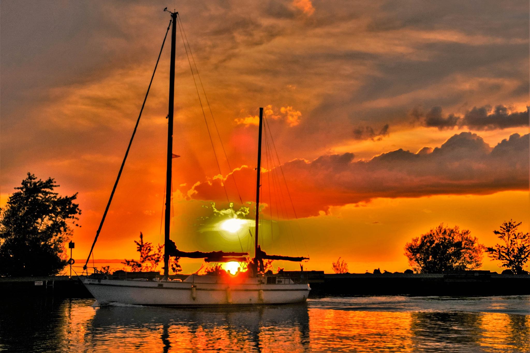 Nautical Sunset. by Denys Peel