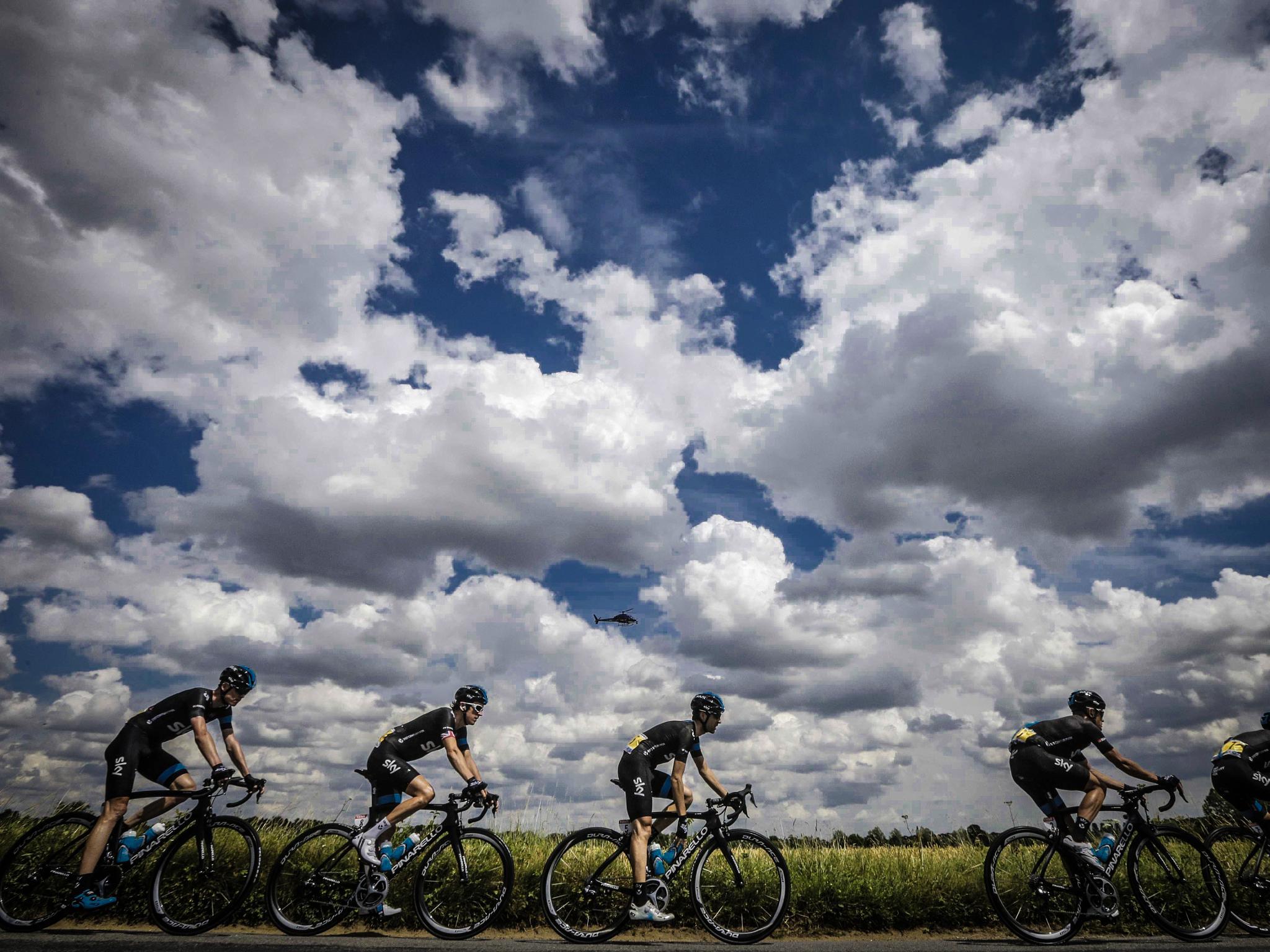 Equipo Sky tour de france 2014 by Miguel Angel Posincovich