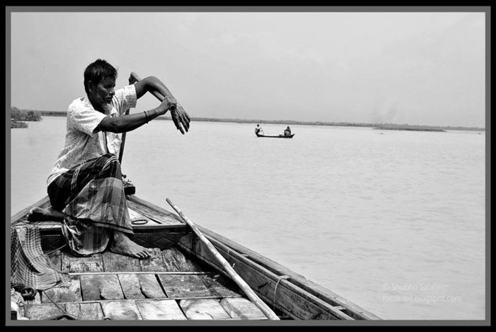 The Life of a boatman by Shubho Salateen