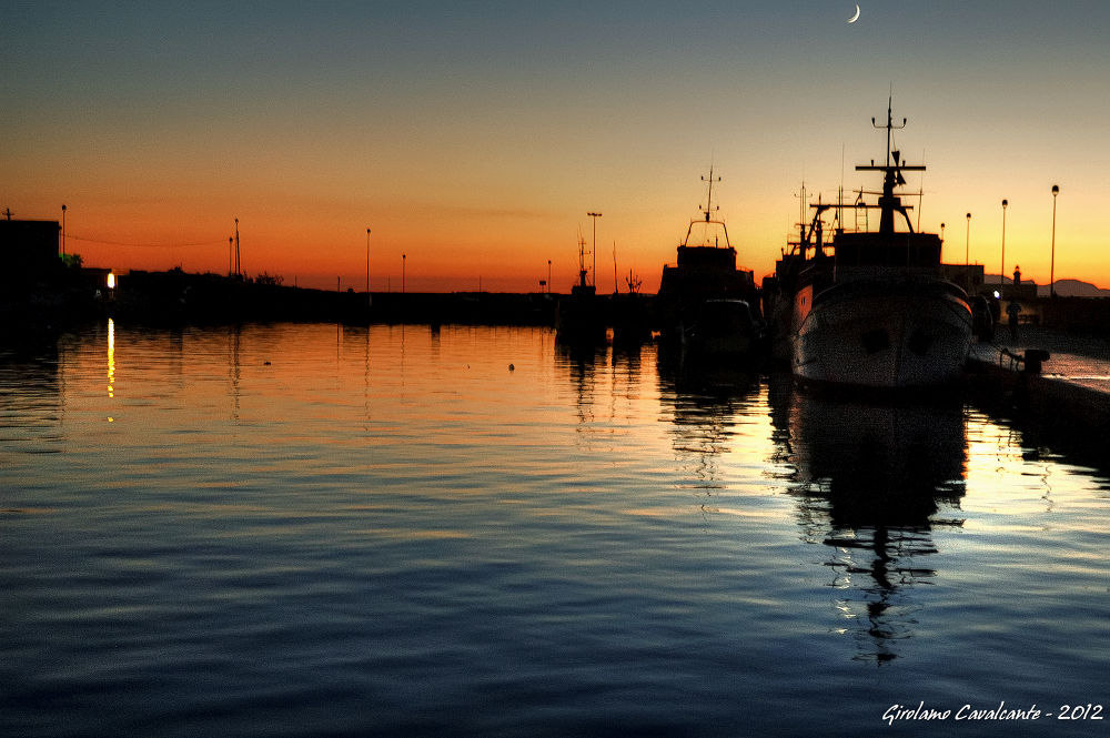 sunset at harbour by GiroPhoto - Girolamo Cavalcante