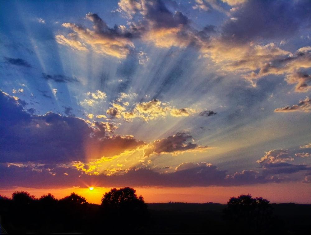 Photo in Landscape #sky #night #landscape #sun #sunsine