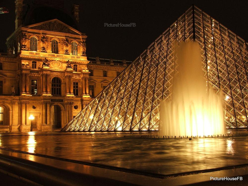Photo in Random #night #louvre museum