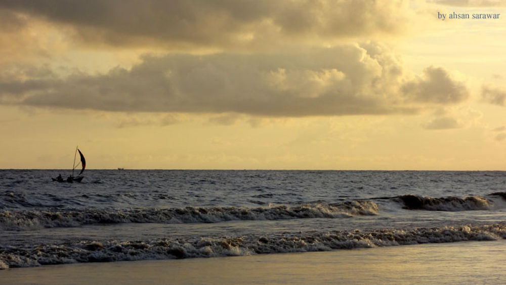 Kuakata sea beach at evening... by Ahsan Sarawar