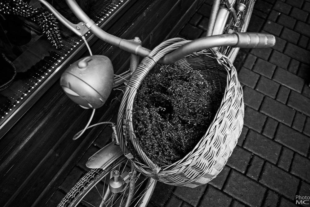 Bike in Zakopane street by cernakmilan