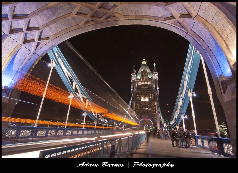 Photo in Random #london #bus #long exposure #tower bridge #night time #motion blur
