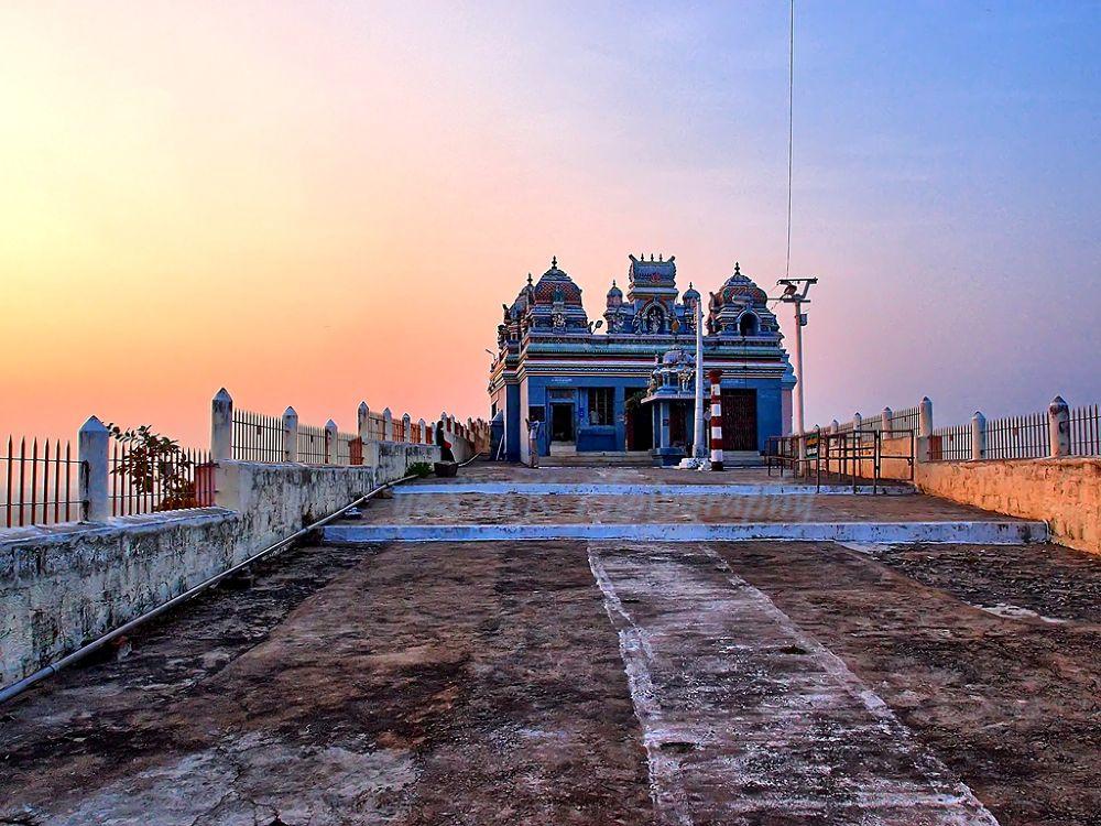 Velayuthampalayam Murugan Temple - Sunset - HDR Image by yesmkr