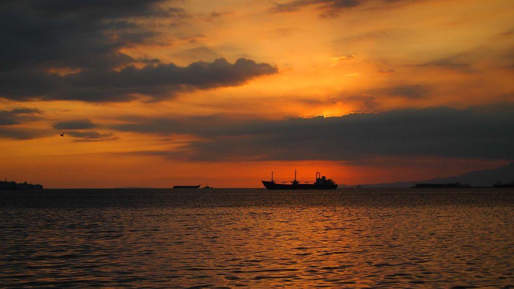 Photo in Random #ship #sunset #silhouette