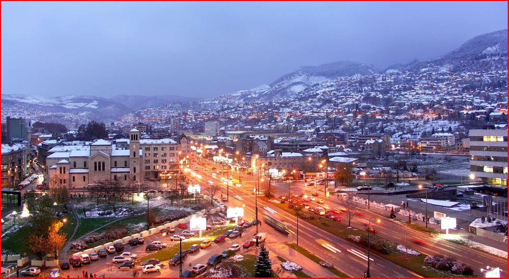 Sarajevo Nightfall  (Sarajevo, Bosnia) by EuroAmerican