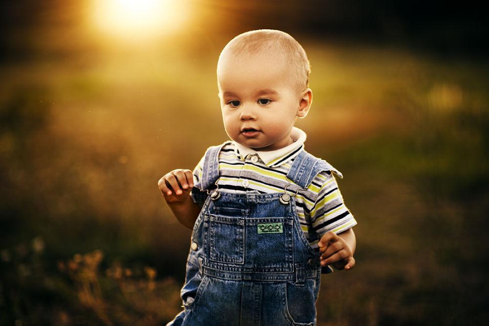 Photo in Portrait #child #sunset