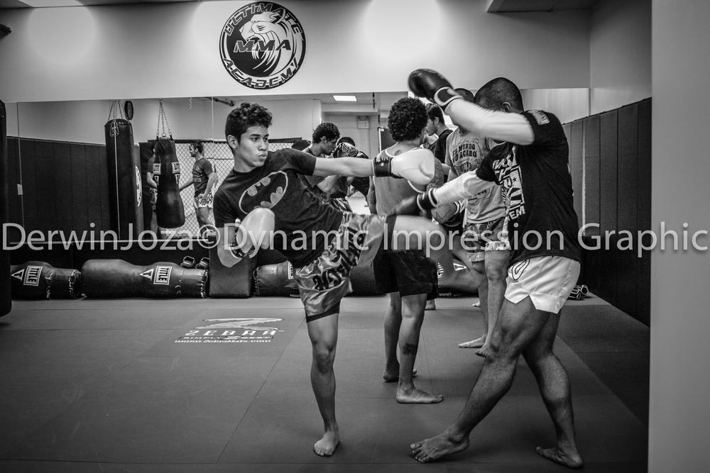 Muay Thai Fighters by Derwin Joza Sr.