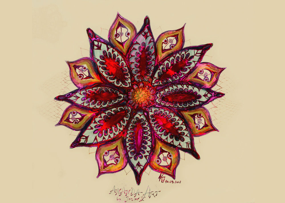 Photo in Abstract #drawing #photo #mandala #yantra #effect #subotica #serbia #flower #cvet #virag