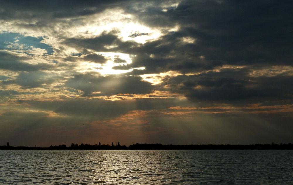 Light and clouds -Palic lake Vojvodina Serbia by Jozef Kujundzic