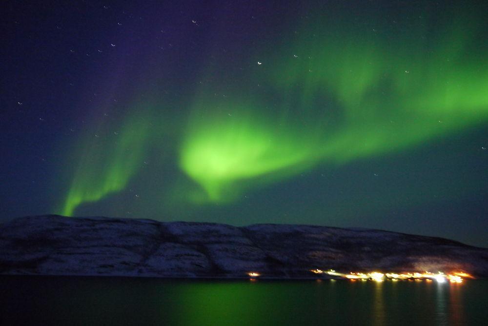 Aurora Smalfjord, Finnmark, Norway by E Pedersen