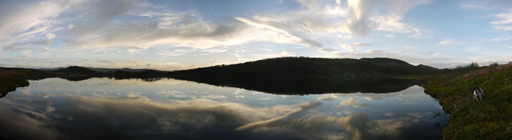 Picking cloudberries by a silent lake! by E Pedersen