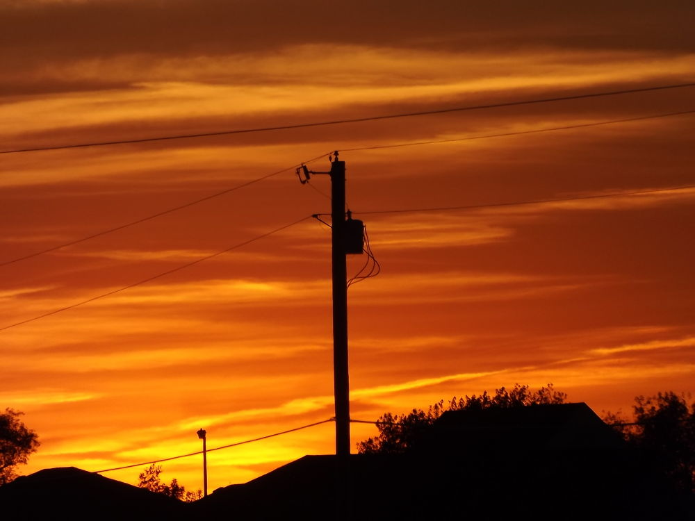Photo in Nature #sky #fire #skyonfire #sunset #gorgeous #beautiful #fall #amazing #september #clouds #burning #orange #red #yellow #gold #silouette #photography #nature