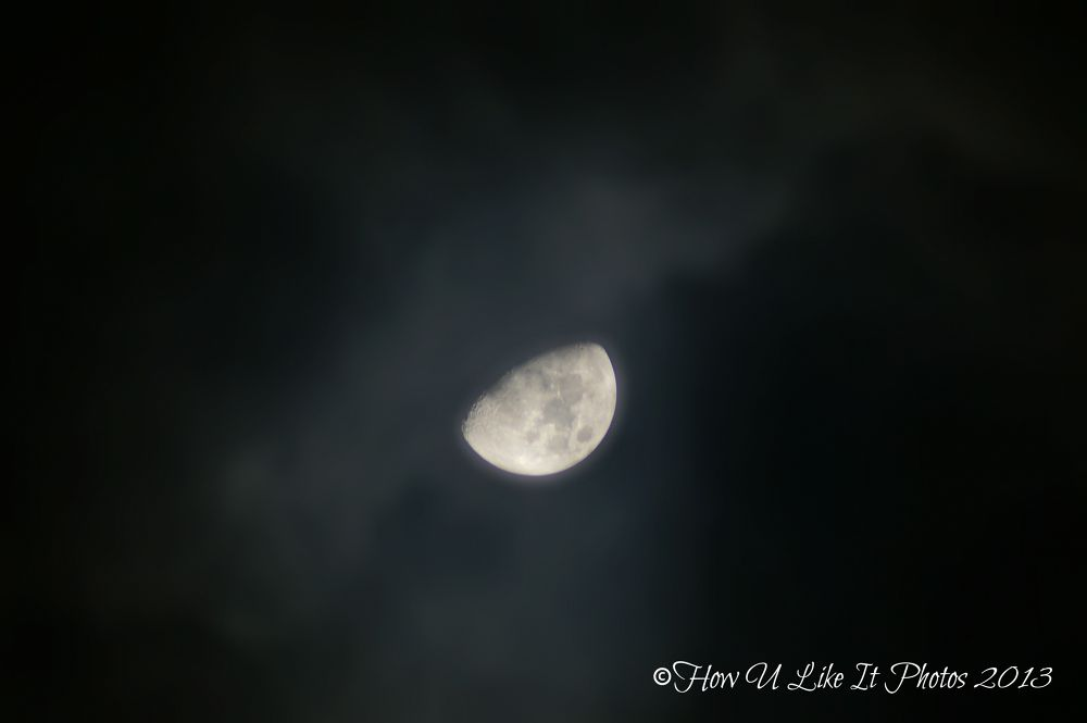 First moon of the new year! by Irene