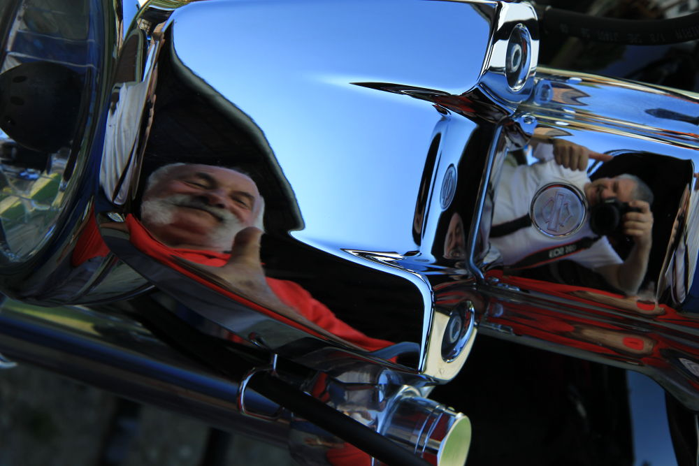 harley mirror by percy ottinger