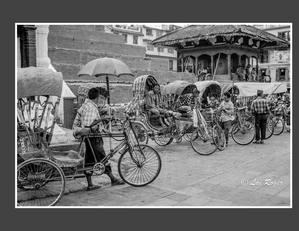 Photo in Random #black and white #bicycle #nepal