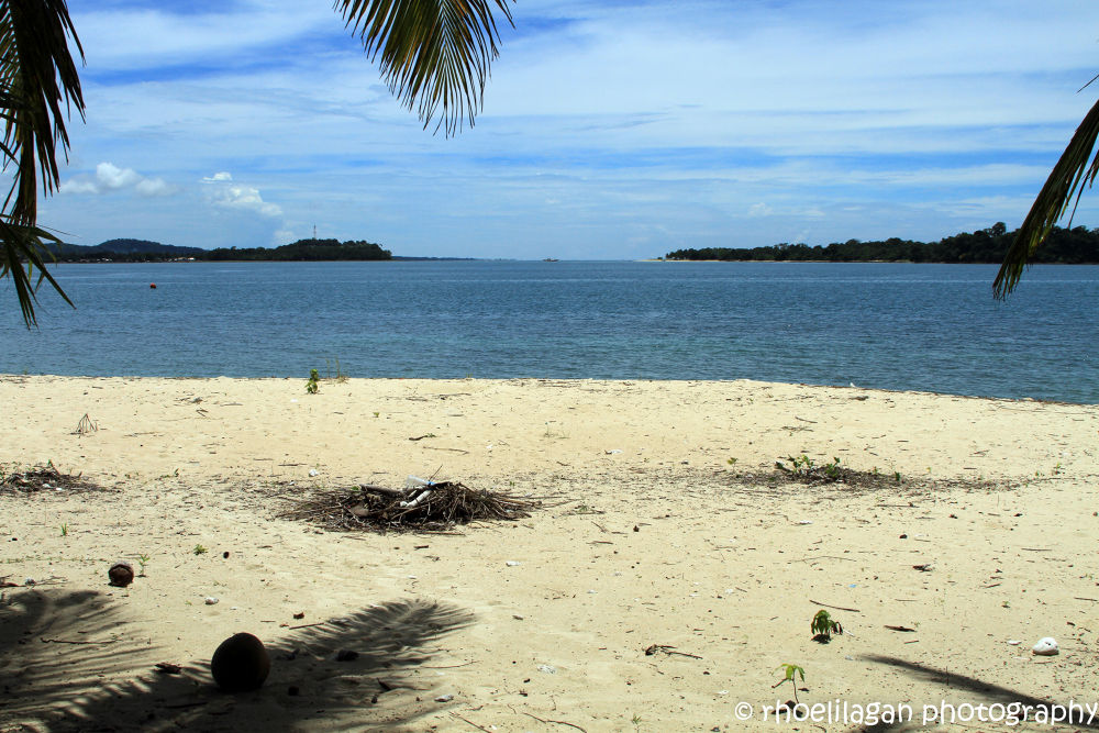white sand beach of Pandan island, Sablayan, Occidental Mindoro, Phils by RHOEL ILAGAN