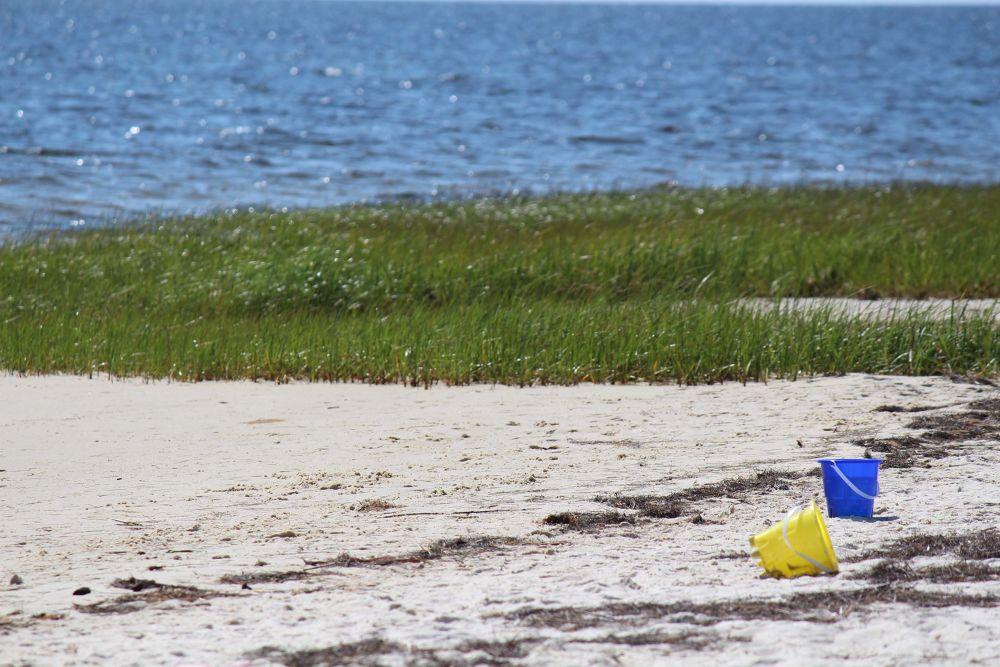 Sand buckets.jpg by Linda L. Offen
