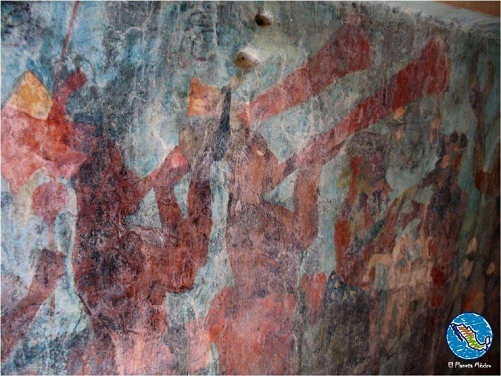 Bonampak. Mural paintings. by El Planeta México