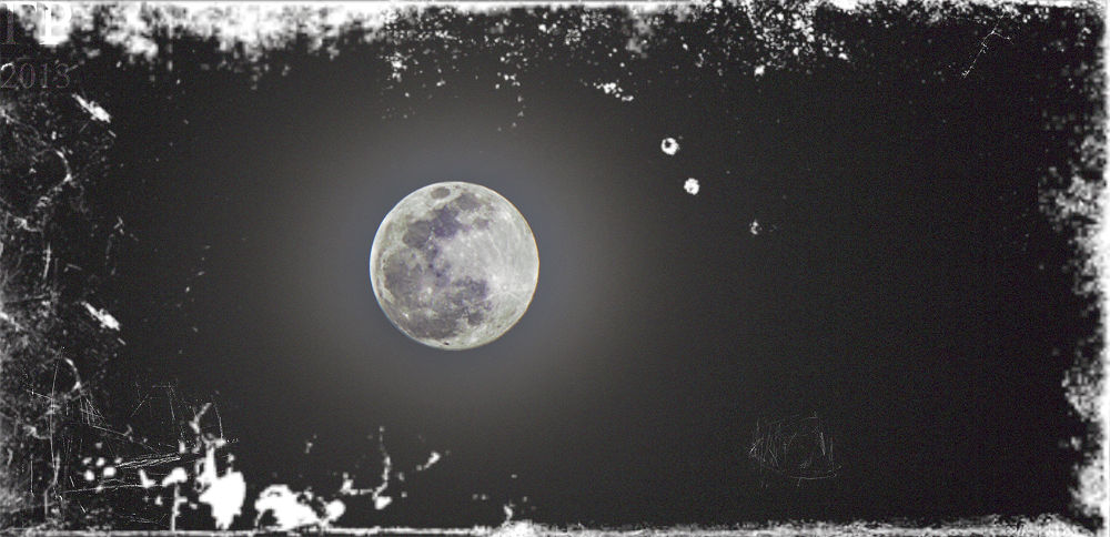 dark and haunting moon from my window  by Gustav Roa