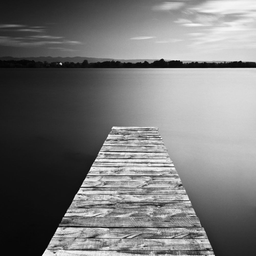 Photo in Fine Art #black and white #long exposuer #seascape #danube