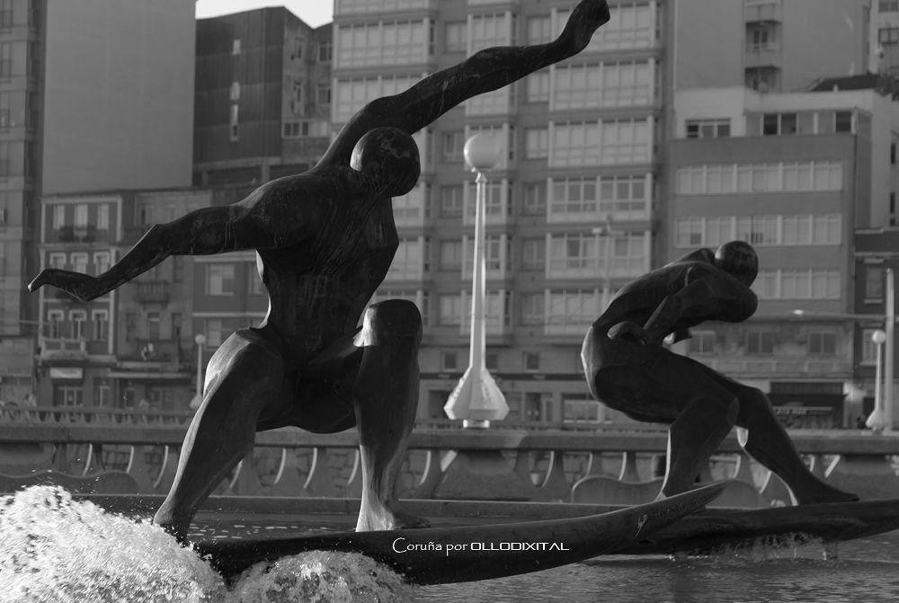 Coruña BW by OlloDixital