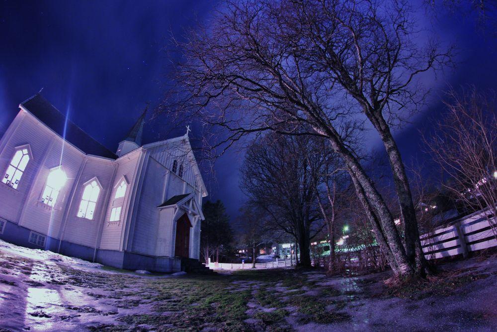 009...the church here at leland in leirfjord norway by vidar mathisen