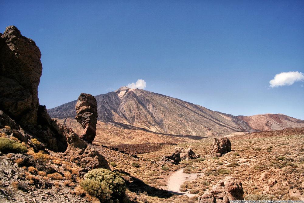 Photo in Landscape #el teide #mountain #dessert #dry #spain