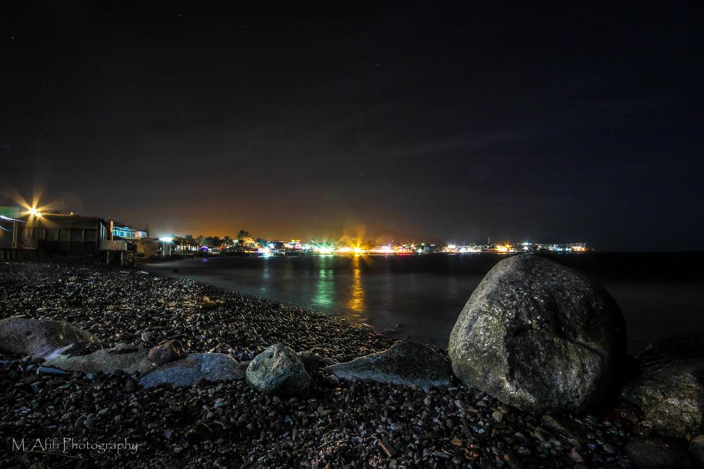 Evening on the beach of Dahab by M. Afifi