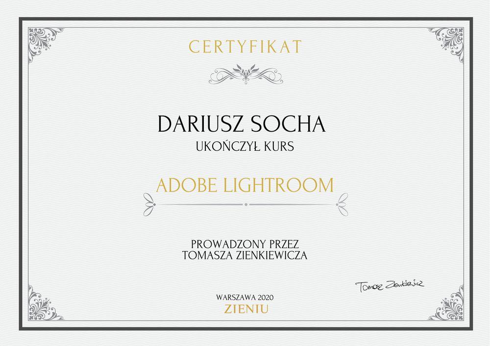 Certyfikat Dariusz Socha LR