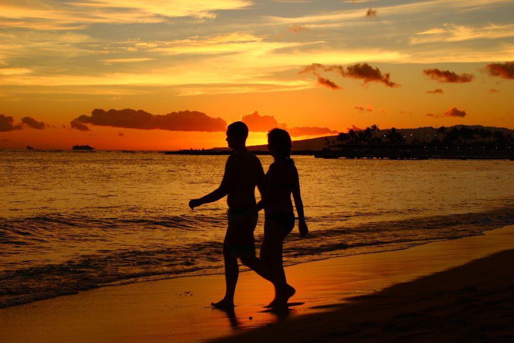 Together at sunset by Krishnan Vaitheeswaran