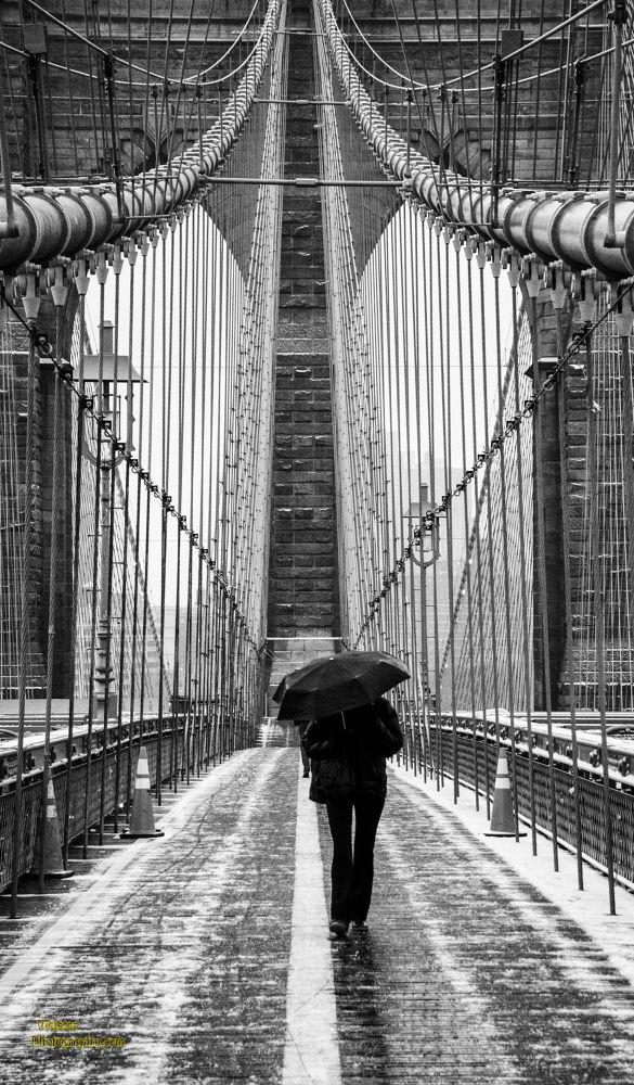 Brooklyn Bridge Snowstorm 2013 by chadzilla1