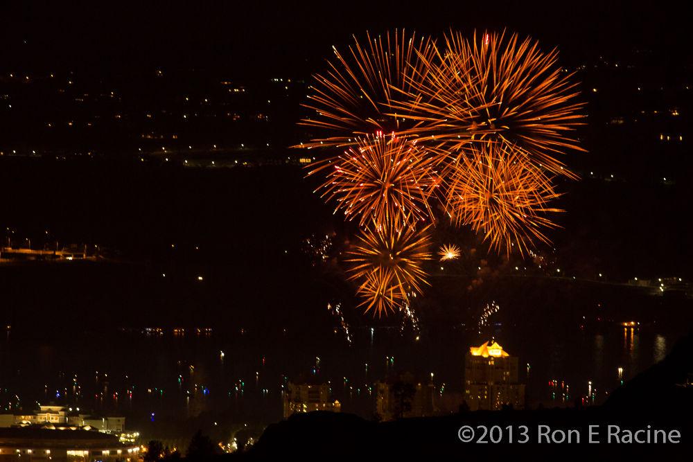 Canada Day Fireworks - Kelowna BC by RonERacine