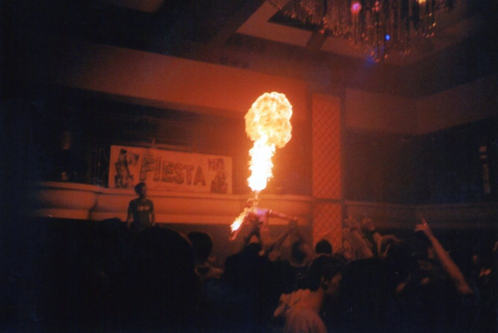 Photo in Lomo #fire #fuego #boy #viva la fiesta #party #nottingham #erasmus #show #fire show #lomo #lomography