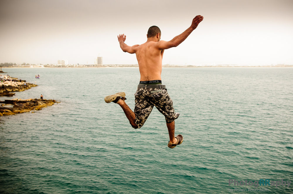 Photo in Sports #jump #sea #israel