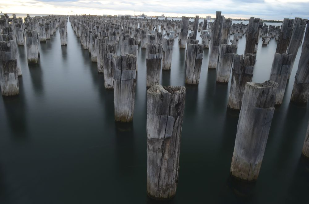 Broken Pier by Photography by David Rayside