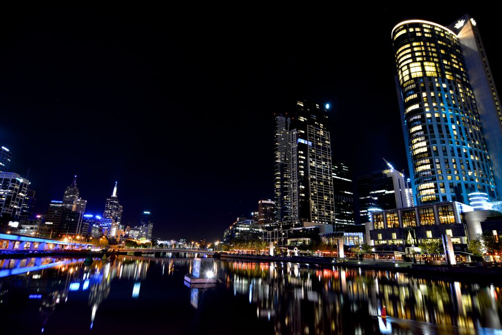 Melbourne's night lights by Photography by David Rayside