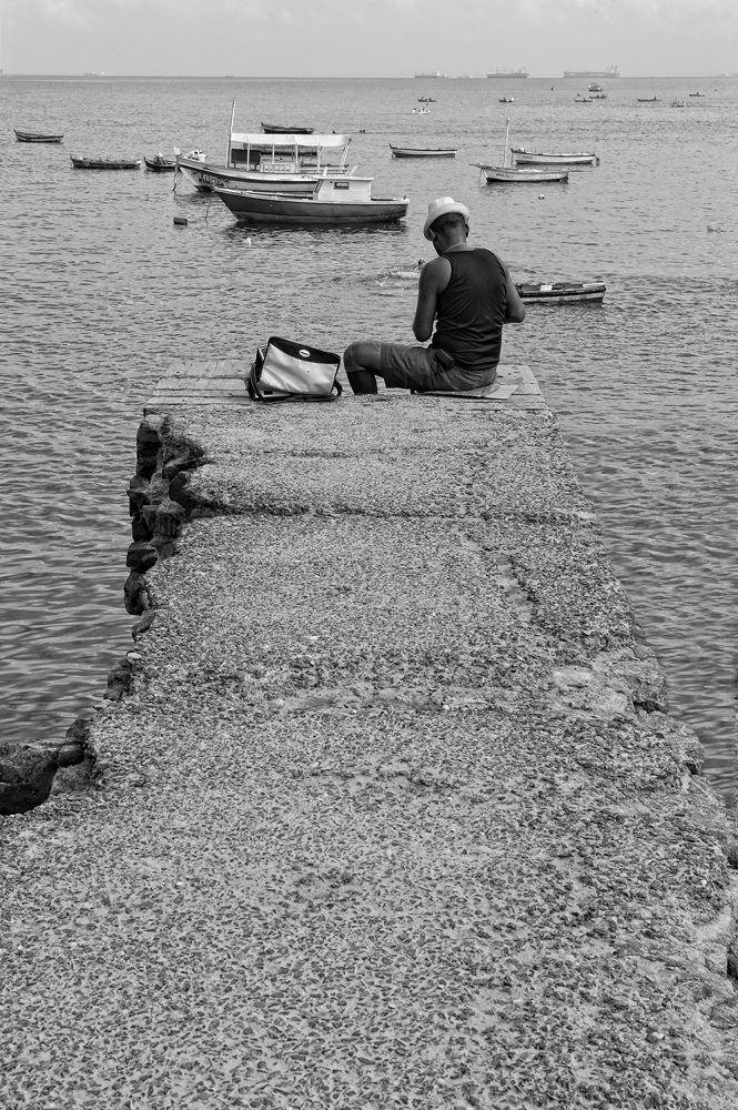 Il pescatore a Barra by Ascione Rosario