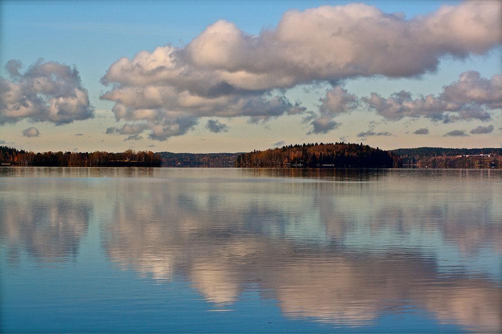 Photo in Landscape #autumn #lake #tampere #finland