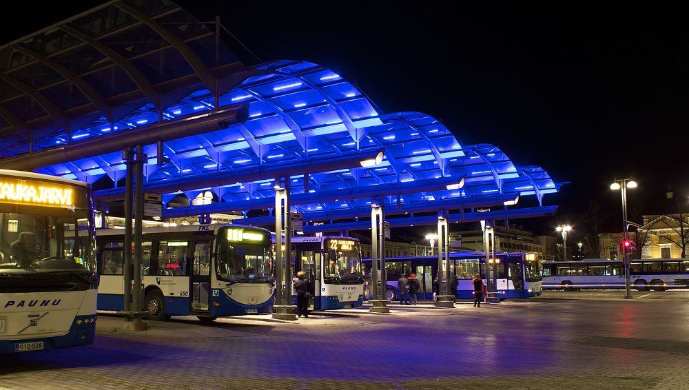 Buses the center of Tampere   by SakariPartio